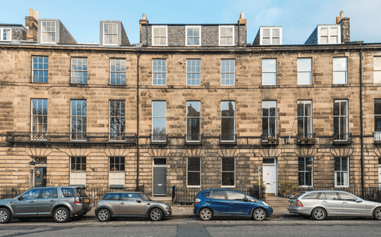 Abercromby Place (Offers Over £1,650,000) in Edinburgh's New Town, where activity above £800,000 is recovering.