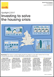 Investing to solve the housing crisis