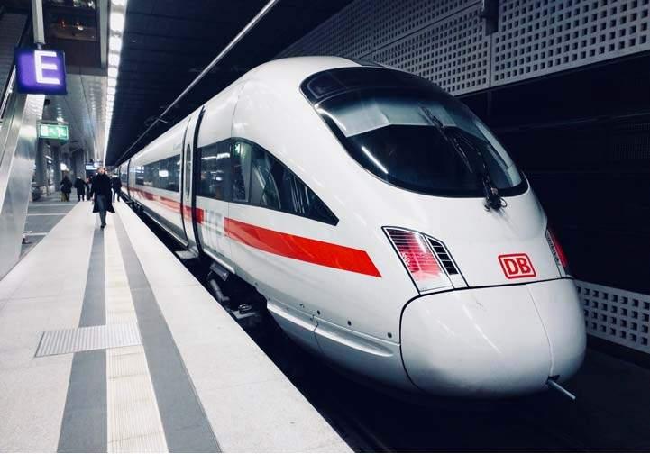 DB train in Germany