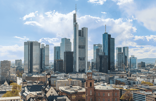 Frankfurt's financial sector dominates the creative sector