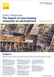 The Impact of New Housing Measures on Development