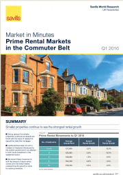 Market in Minutes Prime Rental Markets in the Commuter Belt Q1 2016