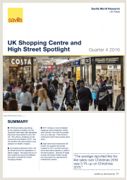 UK Shopping Centre and High Street Bulletin Q4 2016