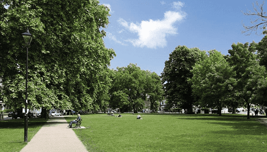 Fulham has multiple green spaces