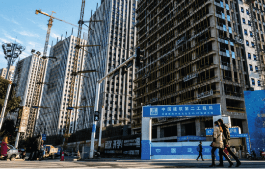 Construction in Wuhan's Han Street business district