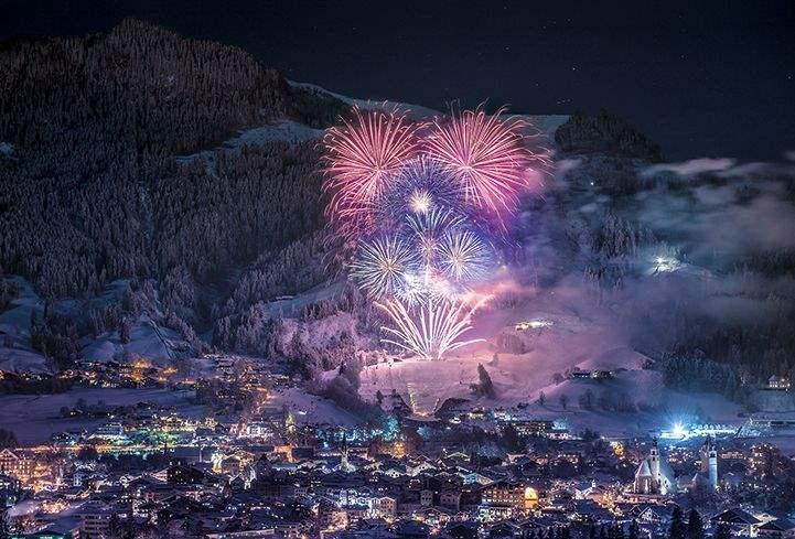 New Year fireworks, Kitzbühel