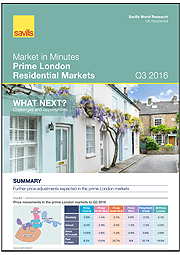 Market in Minutes: Prime London Residential Markets Q3 2016