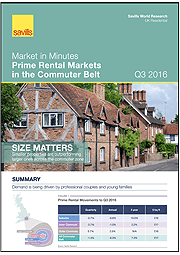Market in Minutes Prime Rental Markets in the Commuter Belt Q3 2016