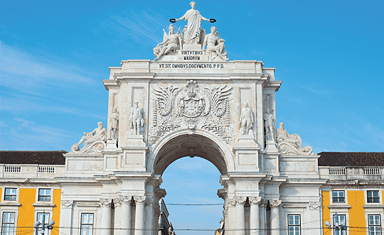 The famous Rua Augusta Arch